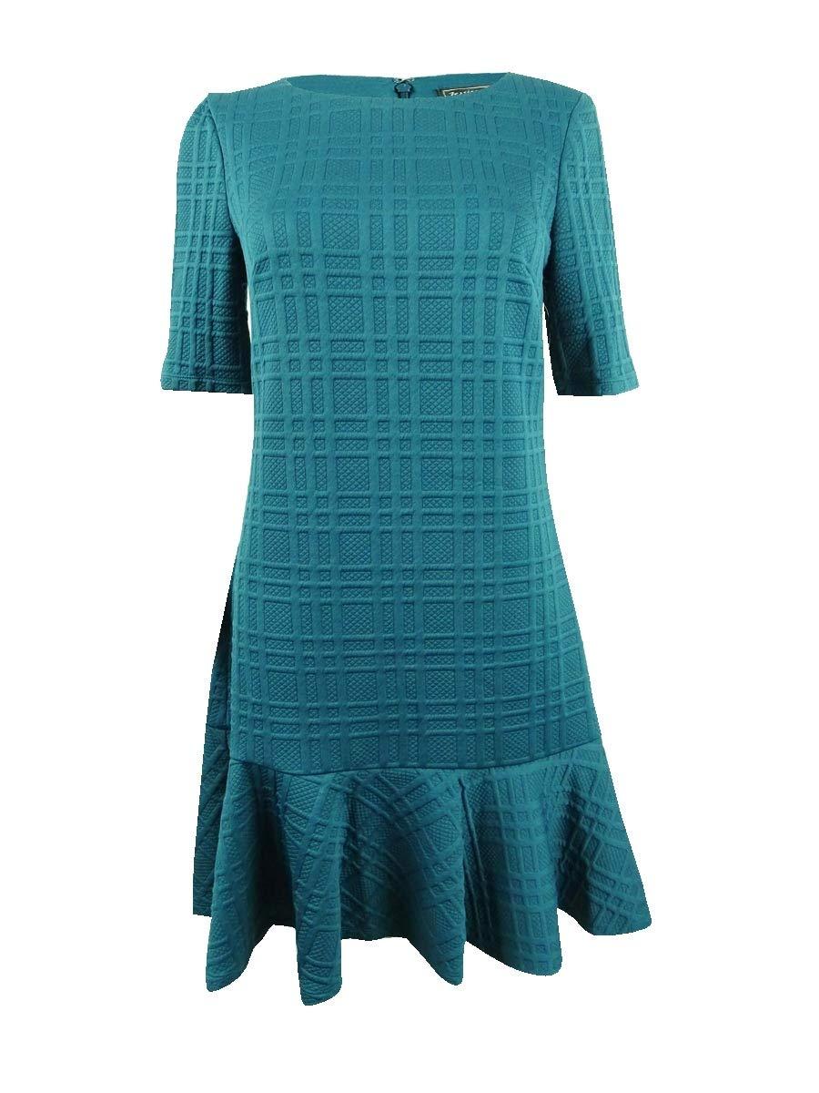 Available at Amazon: Jessica Howard Women's Ruffled Hem Jewel Neck Wear to Work Dress