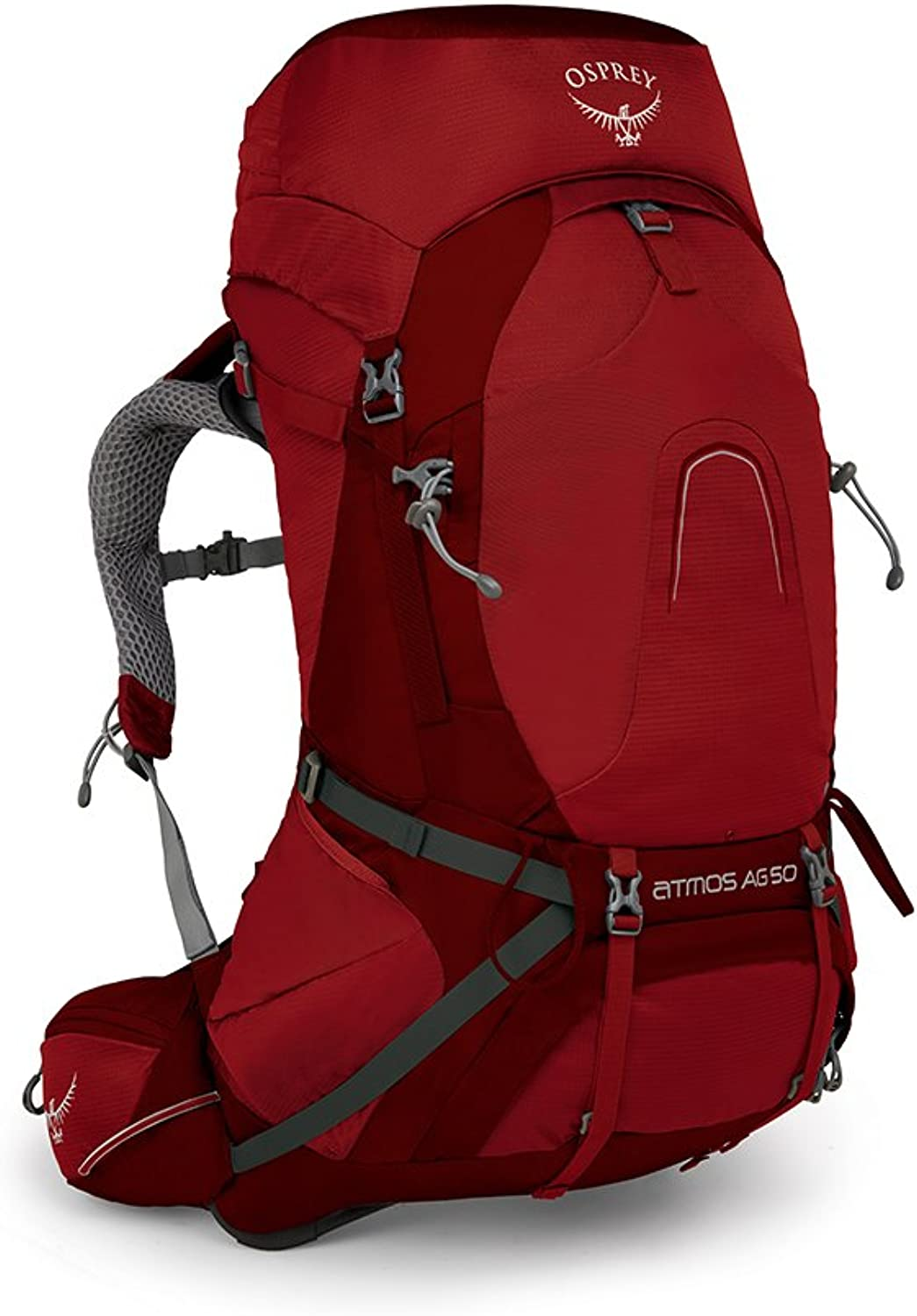 Osprey Packs Osprey Pack Atmos Ag 50 Backpack, Rigby Red, Small
