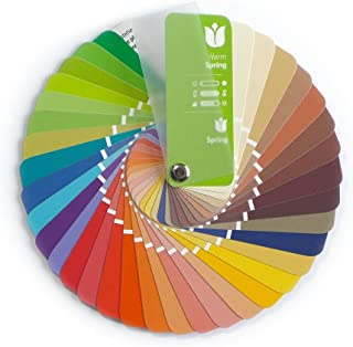 Color Swatch Fan Warm (True) Spring with 35 Colors for Color