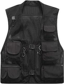 Christor Men's Autumn Winter Jacket Multi-Pocket Mesh Vest Breathable Quick-Drying Gilets Outdoor Traveling Photography Hi...