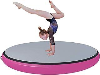 Gymnastik Mats Serie Air Roller Air Block Air Spot Uppblåsbara Tumbling Mat med elektrisk pump, 3,3ft Utrustning för vatte...
