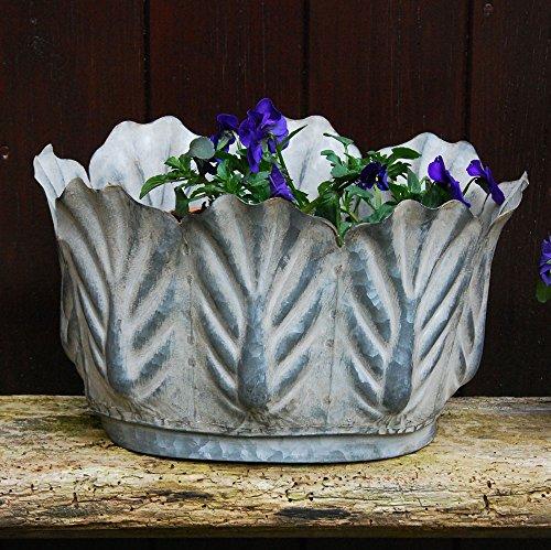 Bluebell Yard Victoriana Petite Feuille de ovale en métal Pot de jardin