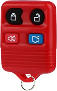 Key Fob fits 1998-2016 Ford Lincoln Mercury Mazda Keyless Entry Remote (Red)