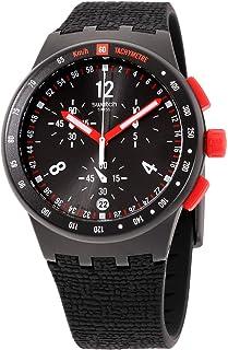 Swatch Originals Stand Hall Black Dial Silicone Strap Men's Watch SUSB411