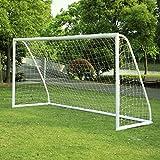 Cage de football But de Football PVC Goal de Foot pour Le Jardin Enfant Exterieur 365 x 182 x 120 cm 12FT X 6 FT
