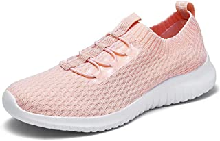 konhill Women's Lightweight Athletic Running Shoes Walking Casual Knit Workout Sneakers