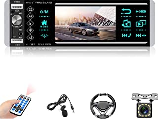 $62 » Single Din Car Stereo Bluetooth 4.1'' Touch Screen Car Digital Media Receiver Car Audio System Support Voice Control/TF/US...