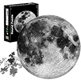 TaimeiMao Puzzle Redondo 1000 Piezas,Rompecabezas Redondo,Puzzle Creativo,Puzzle Arcoiris,Puzzle Adultos (Luna)