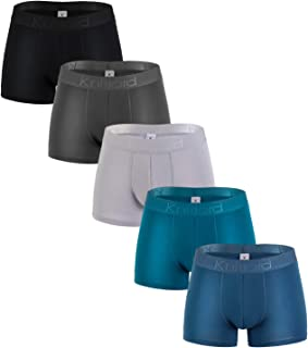 Knitlord Boxer Shorts Mens Boxers Bamboo Fiber Comfort Trunk Underwear 5 Pack