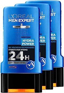 L'Oreal Men Expert Hydra de gel de ducha hidratante intenso Hombres 300 ml - juego de 3