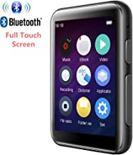 MP3 Player Bluetooth4.2 with 2.5 inch Full Touch Screen 16GB HiFi Lossless Music Player Built-in Speaker Supports FM, Video, E-Book, Electronic Dictionary, Expandable SD Card up to 128GB (Black)