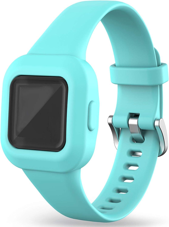 Strap Compatible with Garmin Vivofit jr 3 Bands for Kids 4+ Soft Silicone Waterproof Bracelet Accessories Sport Wristbands Boys Girls Bands for Vivofit jr 3 Activity Tracker (SkyBlue)