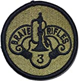 3rd Cavalry Regiment Patch (OCP Scorpion with Fastener)