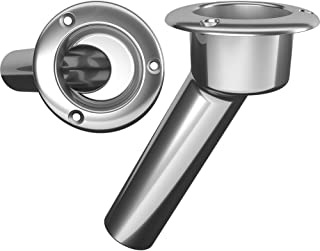 Mate Series Stainless Steel 30 Rod Cup Holder - Open - Round Top [C1030ND]