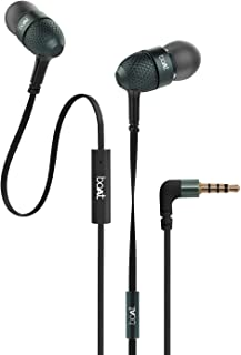 boAt BassHeads 225 in-Ear Wired Earphones with Super Extra Bass, Metallic Finish, Tangle-Free Cable and Gold Plated Angled...