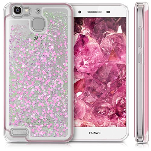 kwmobile Huawei GR3 / P8 Lite SMART Hülle - Handyhülle für Huawei GR3 / P8 Lite SMART - Handy Case in Pink Transparent - 5