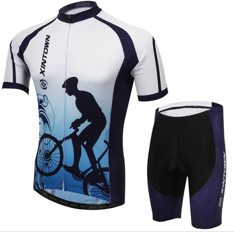 Smwsf WSF Outdoor-Sportarten Reitkleidung Kurzrmeliger Anzug Fahrradkleidung Sommersaison Feuchtigkeitstransport Kleidung Hosen, m