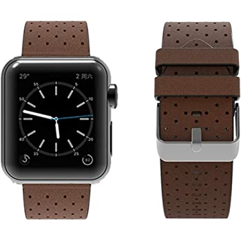 top4cus Genuine Leather Replacement iWatch Strap Wristband