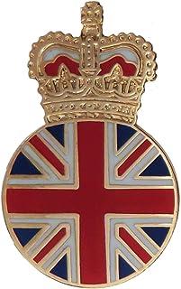 1000 Flags Spilla corona Regina Elisabetta II bandiera inglese