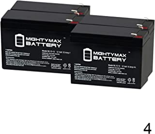 3 Pack Brand Product Mighty Max Battery 12V 15AH F2 Replacement Battery for Kebo UPS-3000D