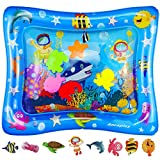 Anrapley Baby & Infant Toys Tummy Time Water Play Mat, Inflatable Sensory Newborn Toys, Perfect Baby Toy for 3 4 6 9 to 12 Months Old Boy or Girl Gift, 6 Floating Toys [24' x 20']