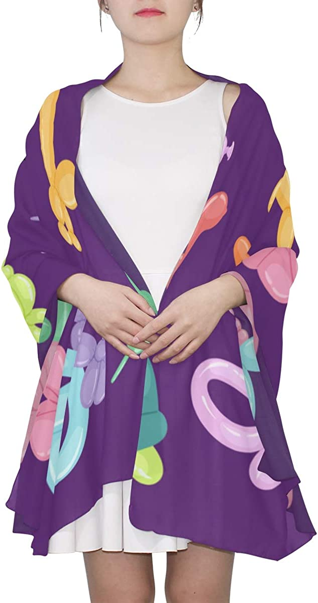 Balloon Insects And Pets Unique Fashion Scarf For Women Lightweight Fashion Fall Winter Print Scarves Shawl Wraps Gifts For Early Spring
