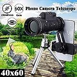 Las Lentes de teléfono móvil HD 40X cámara del telescopio monocular Zoom óptico de la Lente telefoto para iPhone Samsung Smartphone Huawei