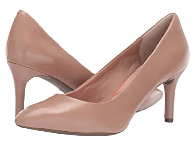 Rockport Total Motion 75mm Pointy Toe Pump (Warm Taupe Calf 1) High Heels