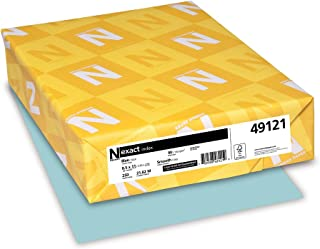Wausau Exact Index Cardstock, 90 lb, 8.5 x 11 Inches, Pastel Blue, 250 Sheets (49121)