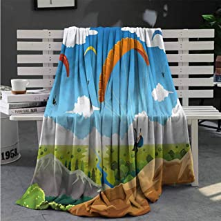 RenteriaDecor Cartoon Soft Blankets Colored Cats with Hats Blanket Super Soft Warm for Child Bedroom Great Gifts to Your Family,Friends,Kids