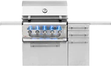 American Muscle Grill Grilling : Gas Grills AMG36-LP-AMG36-CART Freestanding Dual Fuel Wood/Charcoal / Gas Grill, 36-inch, Propane