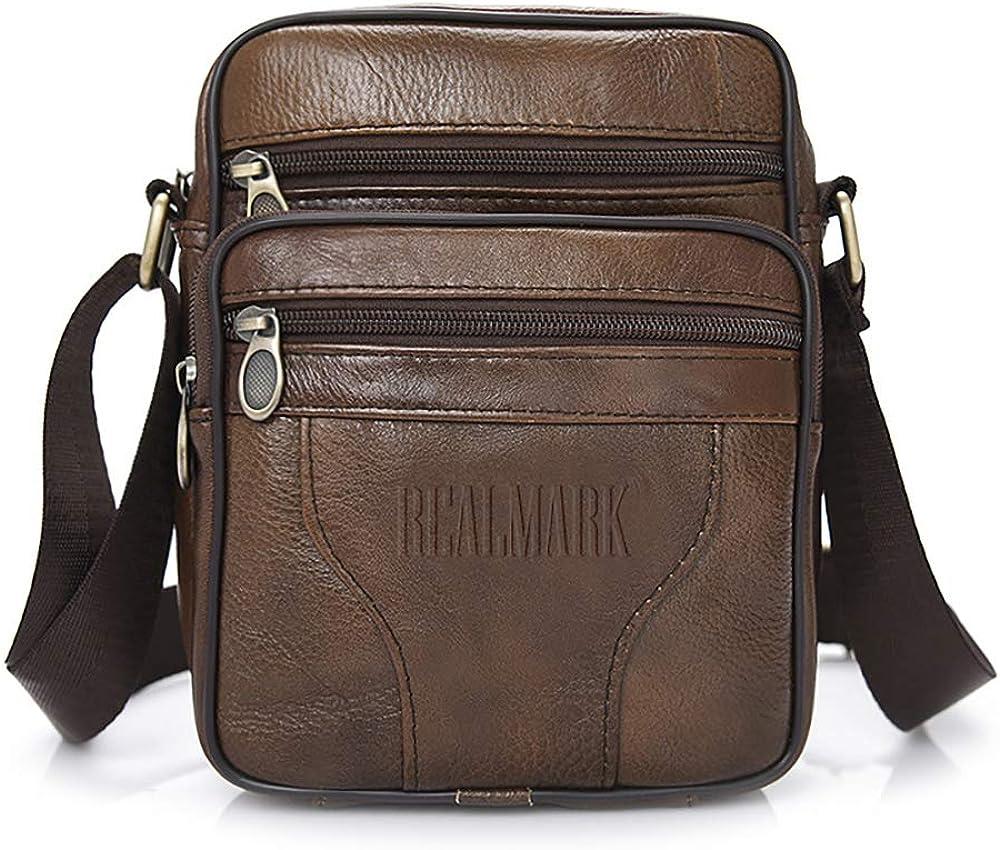Realmark, borsello per uomo a tracolla, in vera  pelle Realmark009
