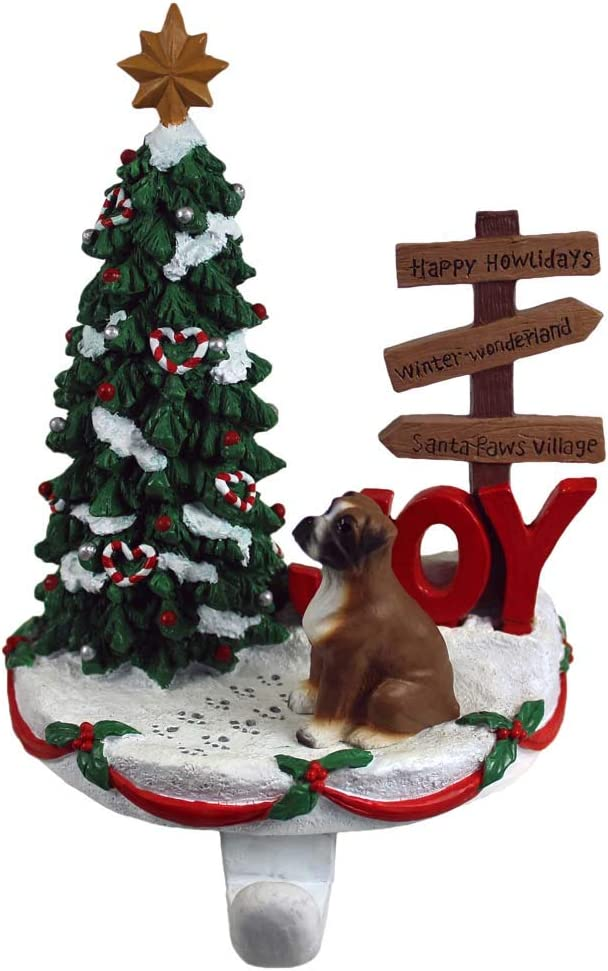 DogLoverStore Boxer Boston National products Mall Stocking Holder Uncropped Hanger