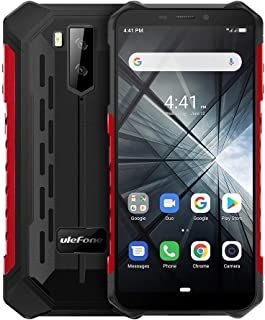 QUZH Cell Phones Smartphone Armor X3 Rugged Phone, 2GB+32GB, IP68 Waterproof Dustproof Shockproof, 5.5 inch Android 9.0 MT6580 Quad Core 32-bit up to 1.3GHz, 5000mAh Battery, Dual Back Cameras & Face