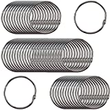 Clipco Book Rings Large 2-Inch Nickel Plated (50-Pack)...