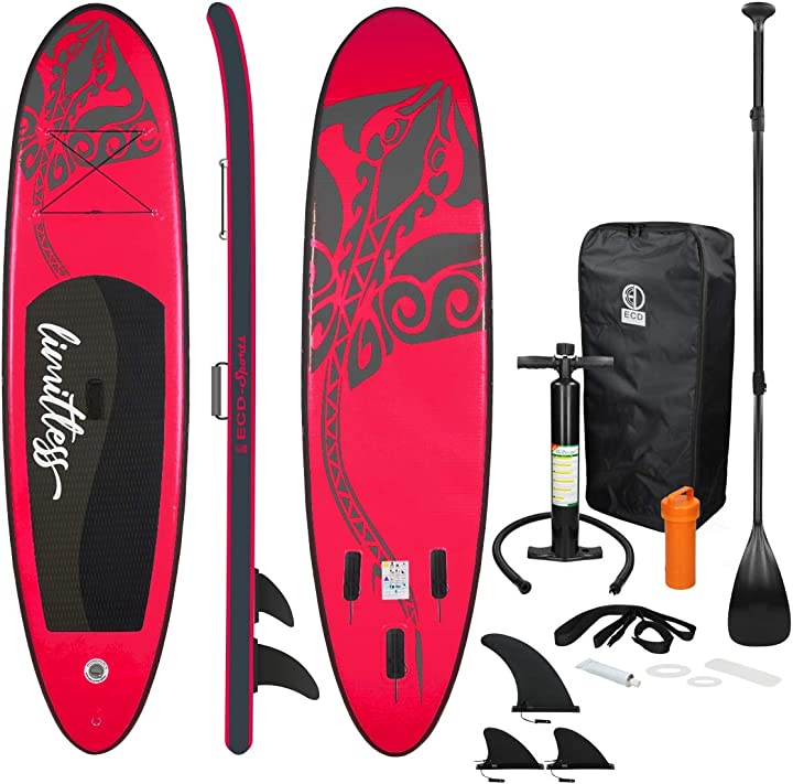 Tavola surf gonfiabile paddle board stand up limitless (sup) 308 x 76 x 10 cm ecd germany IP-1258