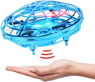 Mini Drone for Kids Flying Ball Boys Toys Age 6 7 Hand Operated Drones Flying Toys for Kids Remote Control Toys RC Helicopter with 360 Rotating and Shinning LED Lights Gifts for Boys or Girls