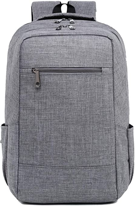 AchirStyle Travel Laptop Backpack, Portable Business Slim Durable Laptops Backpack, Fashion College School Computer Bag for Women & Men Fits 15.6 Inch Laptop and Notebook (Grey)