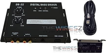 DB-22 Bass Driver Digital Processor Amp with Car Dash Remote Control Knob