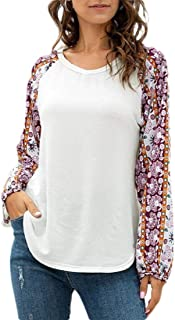 Miracle Women's Casual Fashion V-Neck Lantern Sleeve Slim Fit T Shirt T-Shirt