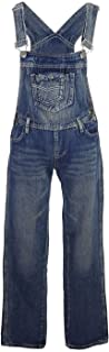 Dril de algodón de Las Mujeres Blue Jeans Rectos Bolsillos Tipo Peto Pantalones de Cintura pantalón Vaquero