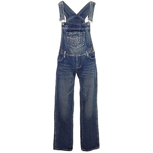 New Men/'s Denim Acid Wash Full Length Dungarees Jeans Mid Bib Overalls 30 TO 42