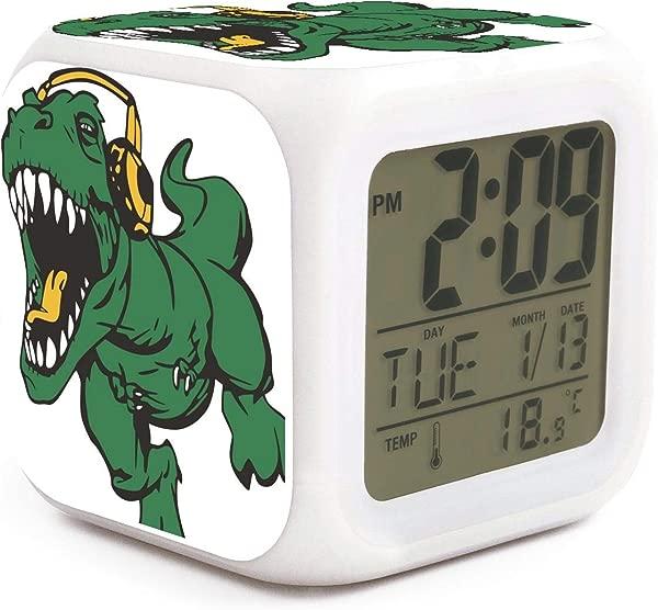 HOTMN Dinosaur Technicolour Rex T Rex Style Cute Multifunction Digital Desk Alarm Clock With LED Touch Light Desk Watch Table Clock