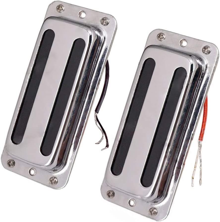 JD.Moon Set of 2pcs Electric Guitar Pickup Humbucker with Brass cover 6 String Chrome