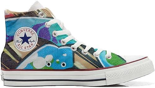 Converse All Star Hi Personnalisé et Imprimés Chaussures Coutume, paniers paniers Unisex (Produit Italien Handmade) Graffiti