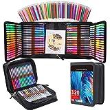 240 Pack Gel pens Set 120 Colored Gel Pen with 120 Refills, Fine Tip Glitter Gel pens for Kids Adults Coloring Books Drawing Crafts Scrapbooks Bullet Journaling