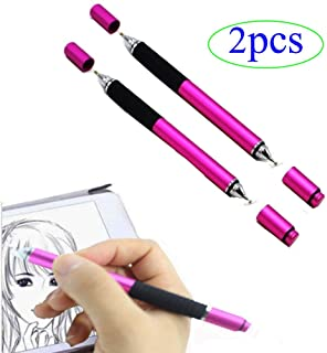 ZLMC 2 in 1 Stylus Pen, Fine Point Replaceable Disc Tip Compatible iPad Air,iPhone, Samsung Galaxy, Tablet Nextbook Laptop...