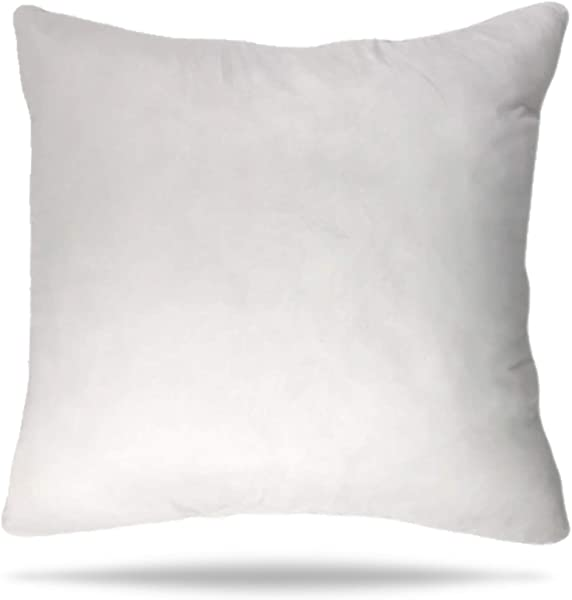 Luxlady 36X36 Pillow Insert Hypoallergenic Square Form Sham Stuffer Standard White Polyester Decorative Euro Throw Pillow Inserts For Sofa Bed Couch Made In USA 1 Pack Machine Washable And Dry