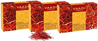 Vaadi Herbals Value Luxurious Saffron Skin Whitening Therapy Soap, 75g (Pack of 3)