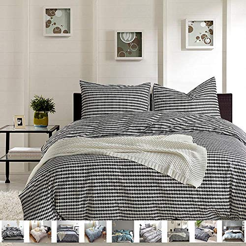 MTB 3 Piece Duvet Cover and Pillow Cases Comforter Bedding Set, 100% Cotton, Smooth & Ultra Soft, King Size (Also Sold in Queen Size)